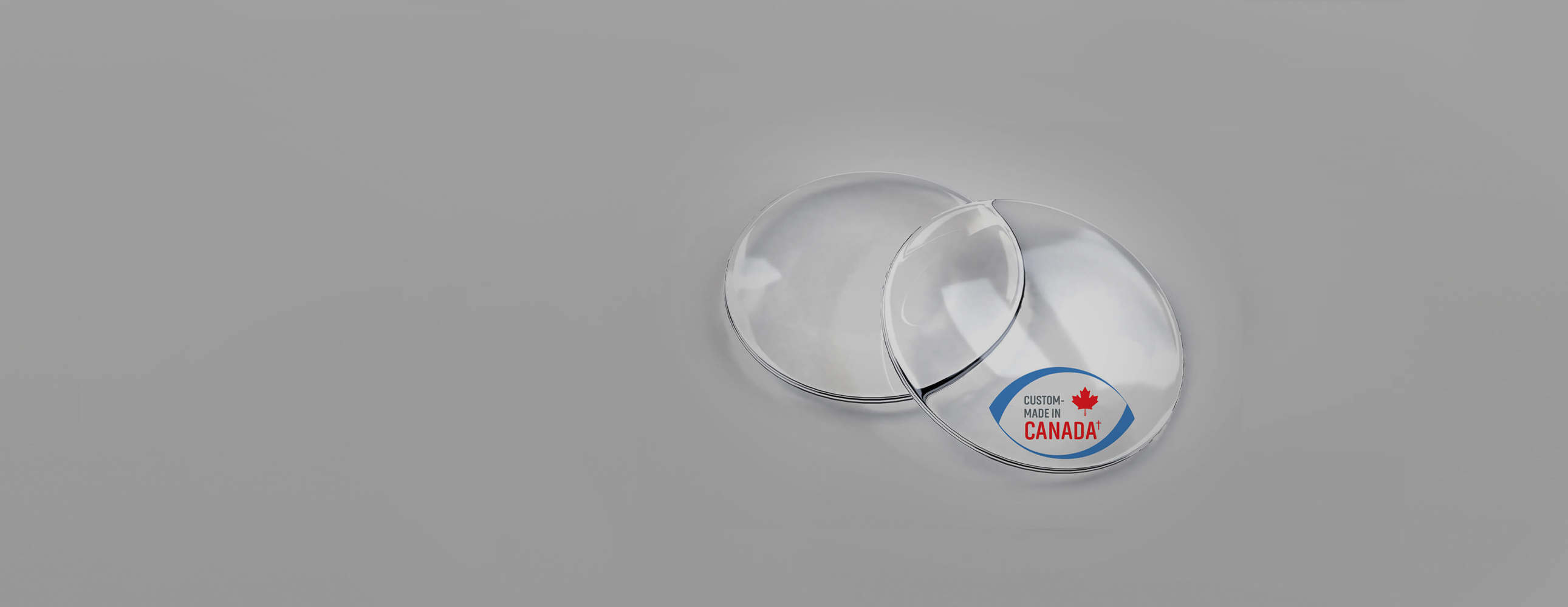 Lenses with made in Canada logo
