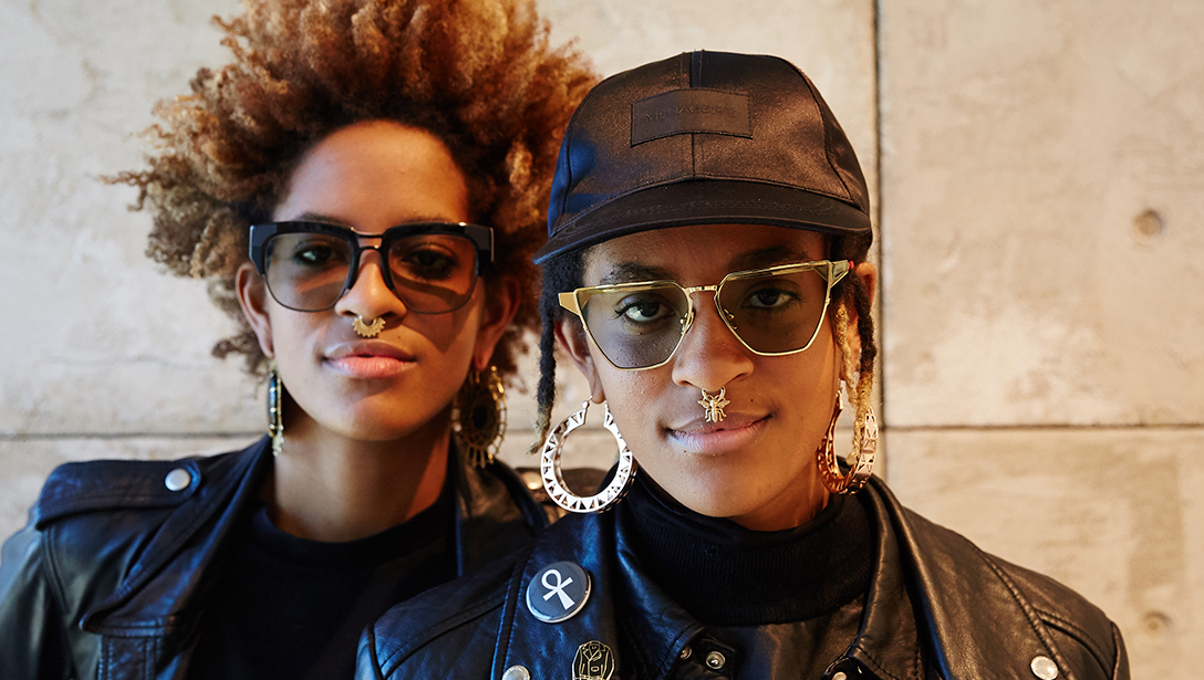 Coco & Breezy wearing Transitions Lens